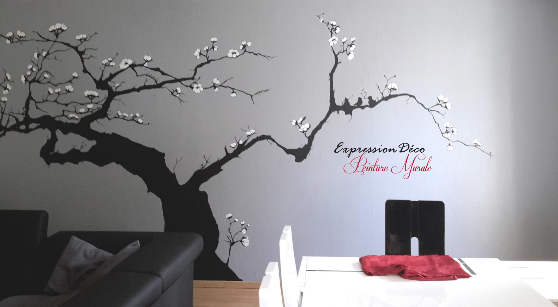 Les d cors peints fresques trompe l 39 oeil for Decoration murale arbre de vie